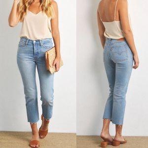 LEVIS wedgie straight denim blue jeans size 26